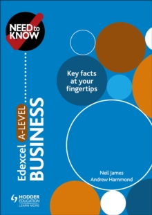 Need to Know: Edexcel A-level Business, Paperback / softback Book