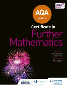 AQA Level 2 Certificate in Further Mathematics, Paperback / softback Book