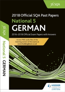 National 5 German 2018-19 SQA Past Papers with Answers, Paperback / softback Book