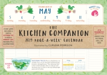 2019 the Kitchen Companion Page-A-Week Wall Calendar, Calendar Book