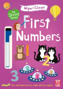 I'm Starting School: First Numbers : Wipe-clean book with pen, Paperback / softback Book