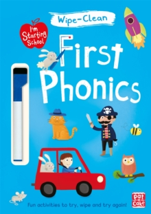 I'm Starting School: First Phonics : Wipe-clean book with pen, Paperback / softback Book