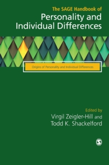 The SAGE Handbook of Personality and Individual Differences : Volume II: Origins of Personality and Individual Differences, Hardback Book