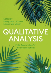 Qualitative Analysis : Eight Approaches for the Social Sciences, Paperback / softback Book