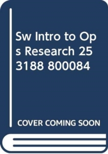 SW INTRO TO OPS RESEARCH 253188 800084,  Book