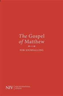 NIV Gospel of Matthew for Journalling, Paperback / softback Book