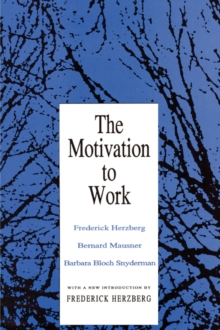 Motivation to Work, Paperback / softback Book