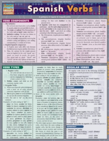 Spanish Verbs, Fold-out book or chart Book