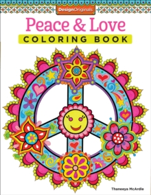 Peace & Love Coloring Book, Paperback Book