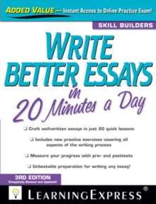 Write Better Essays in 20 Minutes a Day, Paperback Book