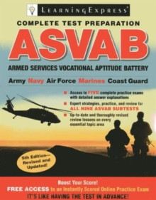 Asvab : Armed Services Vocational Aptitude Battery, Paperback / softback Book
