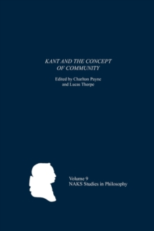 Kant and the Concept of Community, Paperback / softback Book