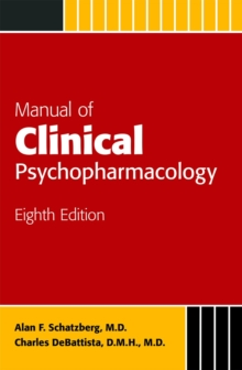 Manual of Clinical Psychopharmacology, Paperback / softback Book