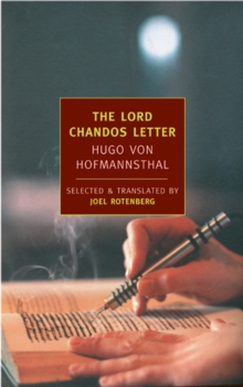 The Lord Chandos Letter, Paperback / softback Book