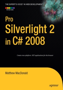 Pro Silverlight 2 in C# 2008, Paperback / softback Book
