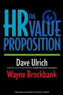 The HR Value Proposition, Hardback Book