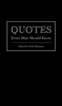 Quotes Every Man Should Know, Hardback Book