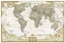 World Executive, Poster Size, Tubed : Wall Maps World, Sheet map, rolled Book