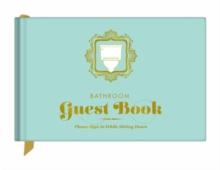 Knock Knock Bathroom Guest Book, Hardback Book