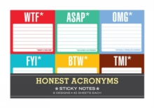 Knock Knock Honest Acronyms: Sticky Note Packet, Stickers Book
