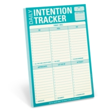 Knock Knock Daily Intention Tracker Pad, Notebook / blank book Book