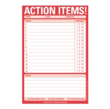 Knock Knock Action Items Pad, Stickers Book
