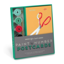 Knock Knock Office Supplies Paint by Number Postcards Kit, Kit Book