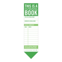 Knock Knock This Is a Book Bookmark Pad, Notebook / blank book Book