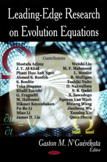 Leading-Edge Research on Evolution Equations, Hardback Book