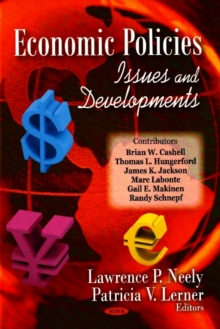 Economic Policies : Issues &  Developments, Hardback Book