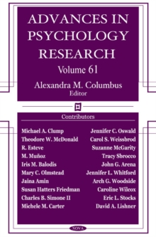 Advances in Psychology Research : Volume 61, Hardback Book