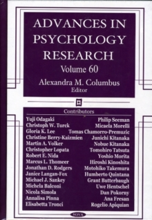 Advances in Psychology Research : Volume 60, Hardback Book