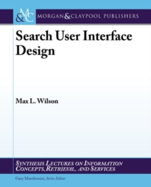 Search-User Interface Design, Paperback Book