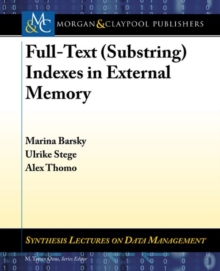 Full-Text (Substring) Indexes in External Memory, Paperback Book