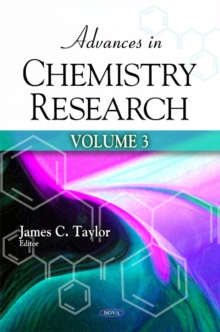 Advances in Chemistry Research : Volume 3, Hardback Book