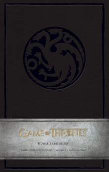 Game of Thrones: House Targaryen Hardcover Ruled Journal, Hardback Book