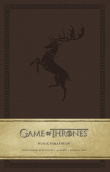 Game of Thrones: House Baratheon Hardcover Ruled Journal, Hardback Book