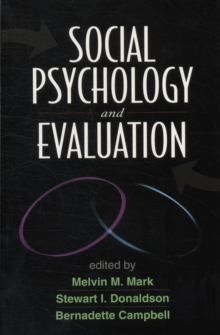 Social Psychology and Evaluation, Paperback / softback Book