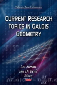 Current Research Topics on Galois Geometrics, Hardback Book
