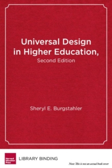 Universal Design in Higher Education : From Principles to Practice, Hardback Book