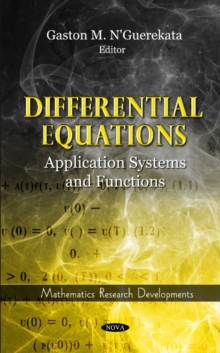 Differential Equations: Application Systems & Functions, Hardback Book