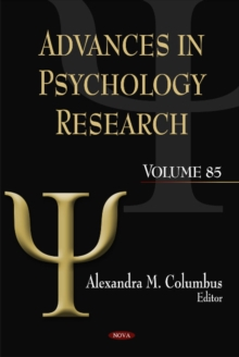 Advances in Psychology Research : Volume 85, Hardback Book