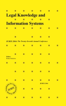 LEGAL KNOWLEDGE & INFORMATION SYSTEMS, Hardback Book