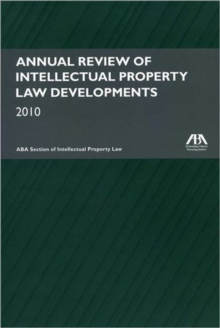 Annual Review of Intellectual Property Law Developments 2010, Mixed media product Book