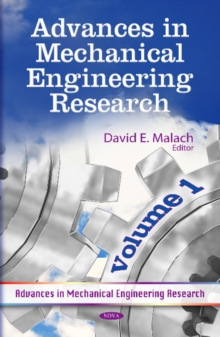 Advances in Mechanical Engineering Research : Volume 1, Hardback Book