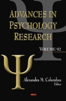 Advances in Psychology Research : Volume 92, Hardback Book