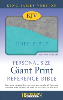 KJV Personal Size Giant Print Reference Bible, Leather / fine binding Book