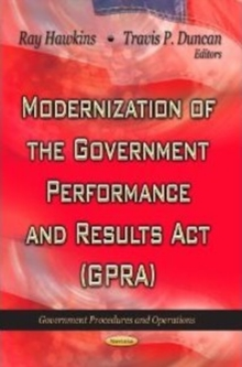 Modernization of the Government Performance & Results Act (GPRA), Paperback / softback Book