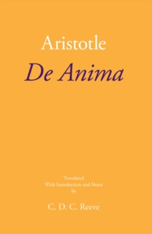 De Anima, Paperback / softback Book