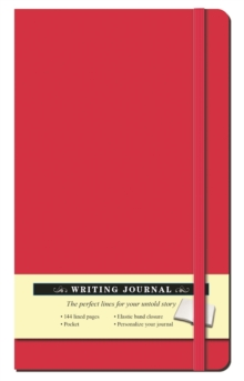 Solid Red Journal, Hardback Book